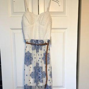 Sweetheart Maxi Strappy Sheer Dress